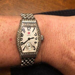 Michele Accessories - MICHELE urban mini watch w/diamond bezel